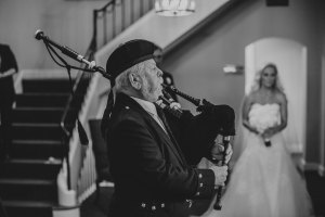 Bagpiper at Wedding