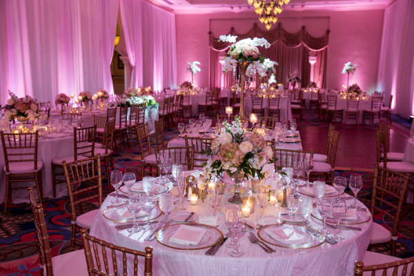 Ballroom Wedding in Pink and Gold