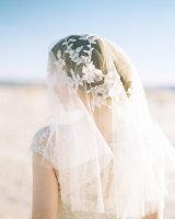 Beaded Vine Applique Floral Bridal Veil