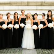 Black Strapless Bridesmaids Dresses