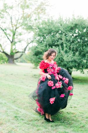 Black Tulle Wedding Dress 2