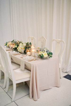 Blush Ivory and Taupe Wedding Table