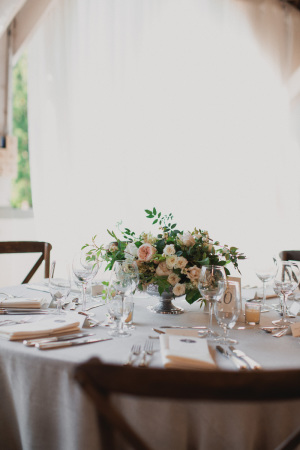 Blush and Green Reception