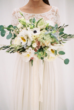 Bouquet with Anemones and Greenery