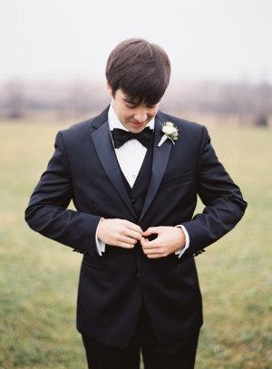 Bride in Classic Tuxedo