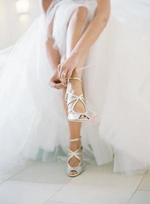 Bride in Jimmy Choo