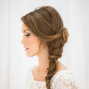 Bride in Side Braid