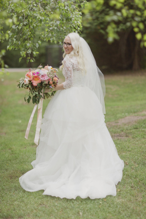 Bride in Vera Wang Ballgown