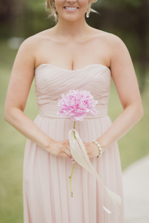 Bridesmaid with Single Flower