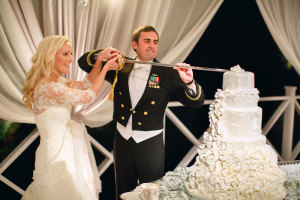 Cake Cutting with Navy Sword