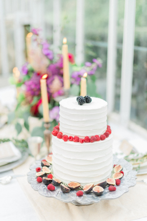 Cake with Berries and Figs