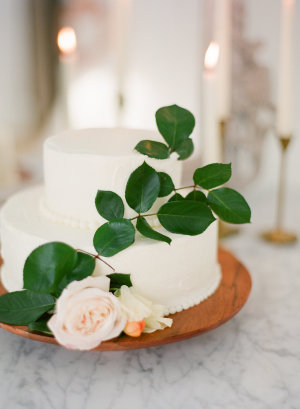 Cake with Greenery Sprig