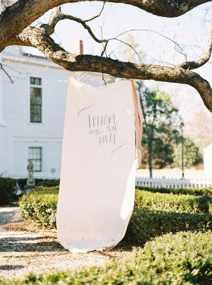 Ceremony Backdrop with Calligraphy