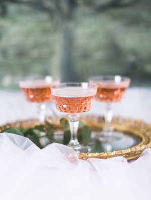 Cocktails in Vintage Glassware