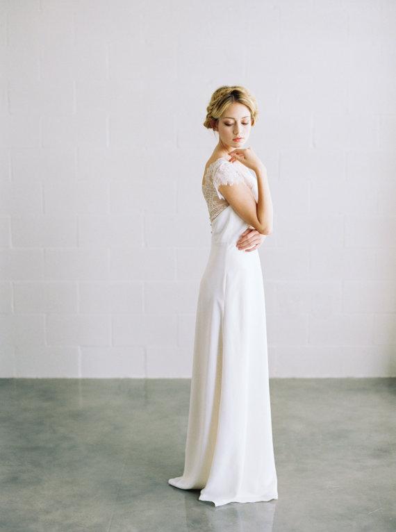 Ella Silk Crepe Wedding Dress - Elizabeth Anne Designs: The Wedding Blog