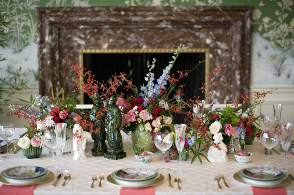 Exotic Pink and Green Centerpiece