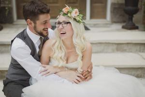 Flower Crown on Bride