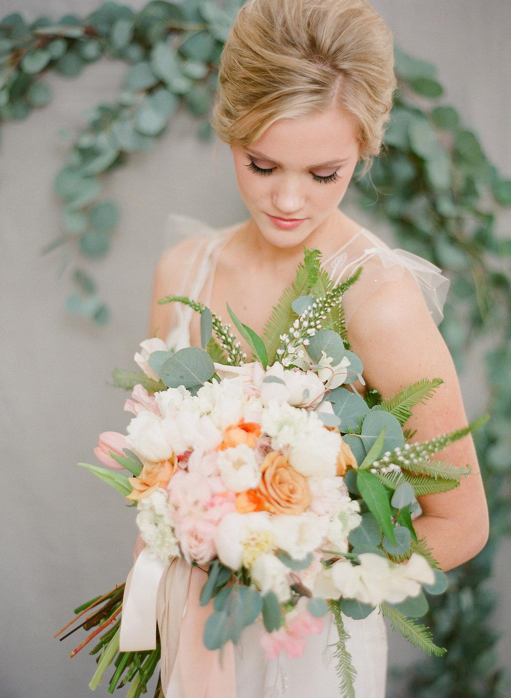 Fluffy Peach Bouquet