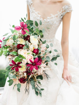 Garnet and Pink Bouquet
