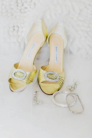 Gold Manolo Blahnik Wedding Shoes