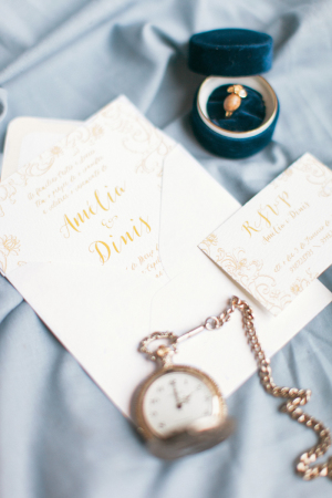 Gold Printed Wedding Invitations