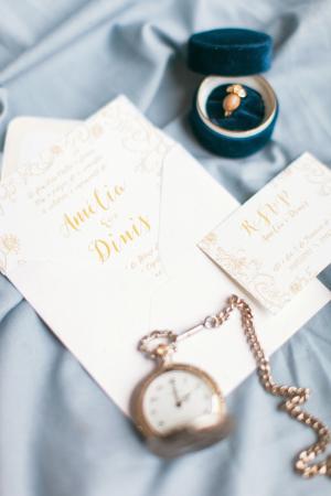 Gold Printed Wedding Invitations