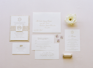 Gold Wedding Invitations 2