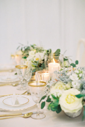 Gold and Pale Yellow Centerpiece