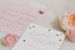Gold and Pink Wedding Invitations1