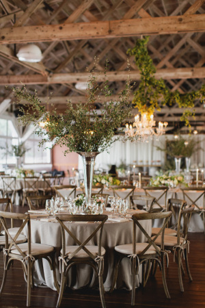 Gray and Green Wedding Reception
