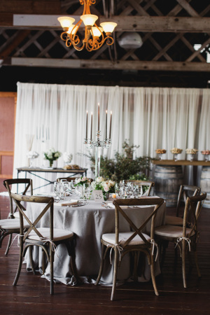 Gray and Ivory Rustic Reception