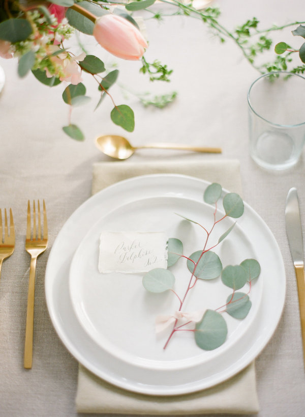 Greenery Sprig at Place Setting