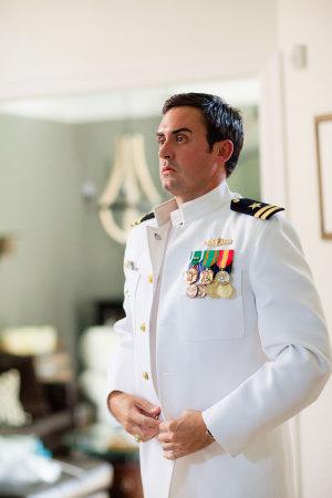 Groom in Military Uniform
