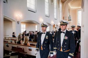 Groomsmen in Military Uniforms