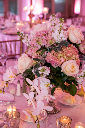 Hydrangea and Orchid Centerpiece