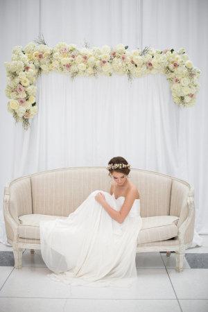 Ivory Floral Wedding Arbor