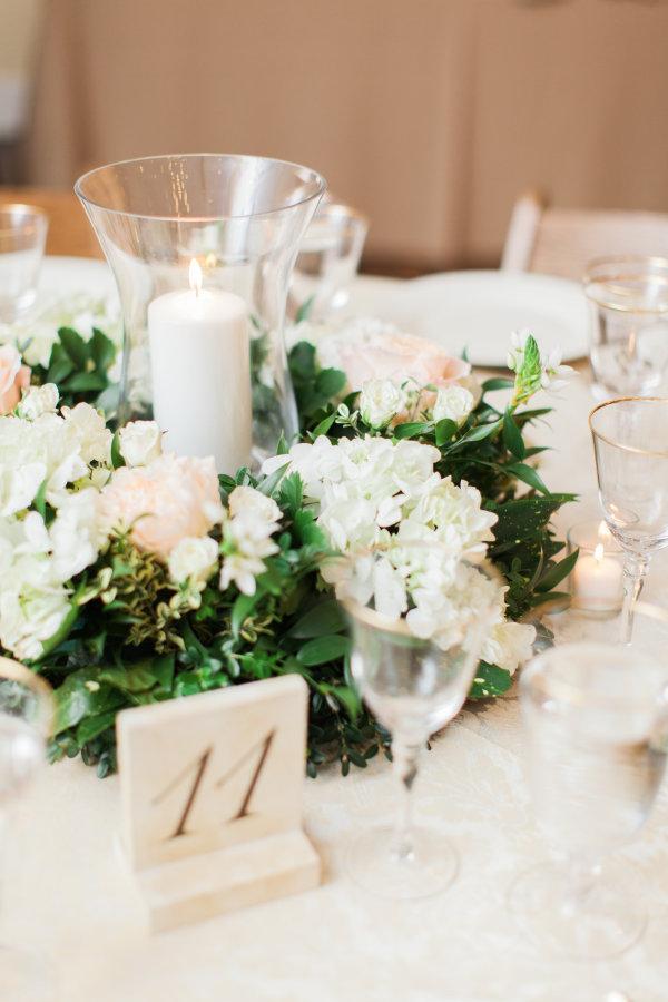 Ivory Wreath Centerpiece Elizabeth Anne Designs The Wedding Blog