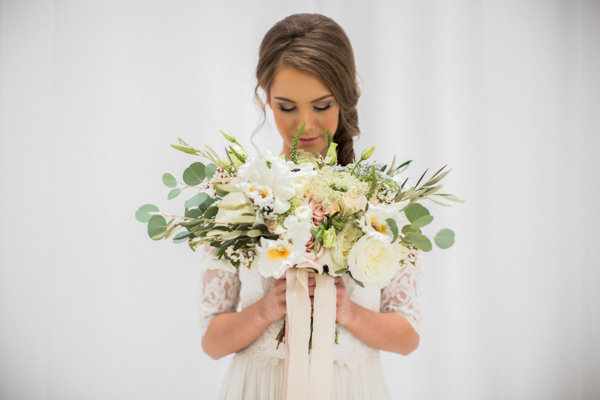Ivory and Butter Wedding Bouquet