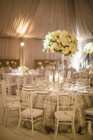 Ivory and Silver Wedding Reception