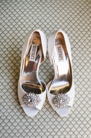 Jeannie Crystal Trip Open Toe Badgley Mischka Wedding Shoes