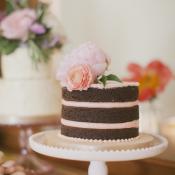 Mini Unfrosted Wedding Cake