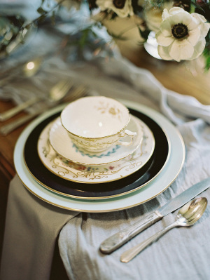Mismatched Wedding China