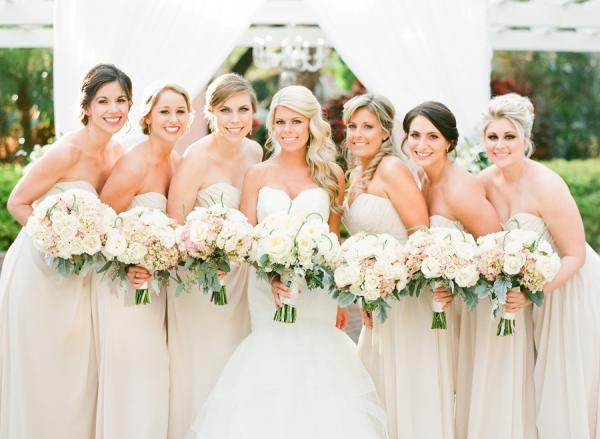 Pale Champagne Bridesmaids Dresses