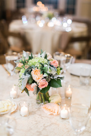 Pale Green and Peach Bouquet
