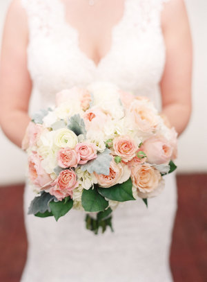 Pale Pink and Peach Bouquet