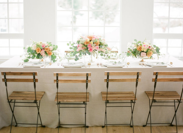 Peach and Ivory Spring Wedding