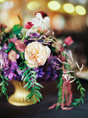 Peach and Purple Wedding Flowers