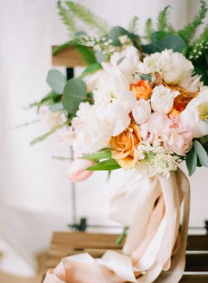 Peach and White Bouquet