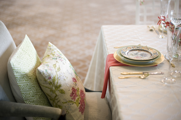 Pillows at Wedding Chair