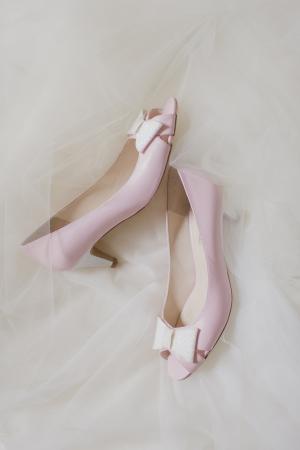Pink BHLDN Peep Toe Pumps